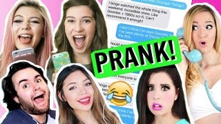 Pranking YOUTUBERS with Song Lyric Texts!! (ft. Jessie Paege)