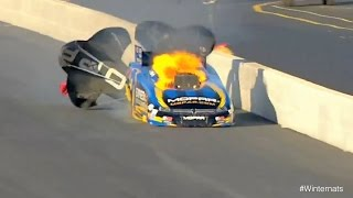 Matt Hagan engine explodes at the 2015 Circle K NHRA #Winternats