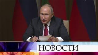 В.Путин побывал в столице Азербайджана с кратким рабочим визитом и посетил Чемпионат мира по дзюдо.