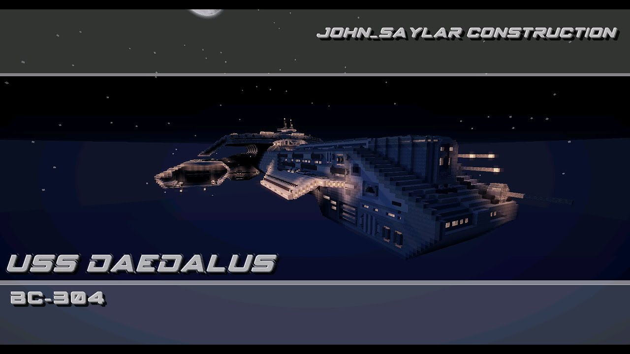 Uss Daedalus Stargate Sg 1 Minecraft Youtube