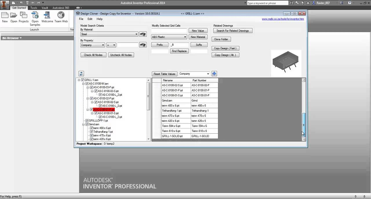 Design cloner copy design app for autodesk inventor for Copy design