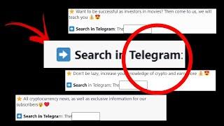 Search in Telegram - O que é isso #SearchInTelegram