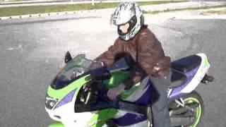 First Ride On a Superbike, Ninja ZX9R