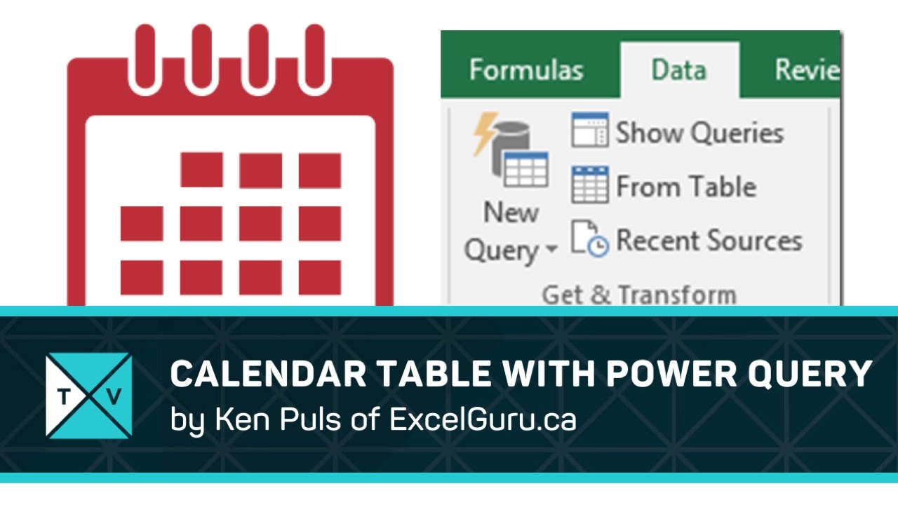 How To Make A Calendar Table With Power Query - Excel Tips
