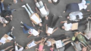 Freeze Mob 13 - Soutien pour Gaza - Marseille, 2 Août 2014