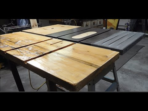 Simple Table Saw Outfeed Table Youtube