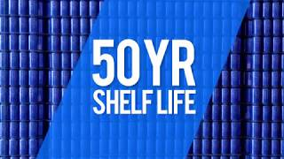 Blue Can Emergency Water -50 Year Shelf Life Video Review