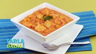Paneer Corn Korma (protein Rich Recipe) By Tarla Dalal