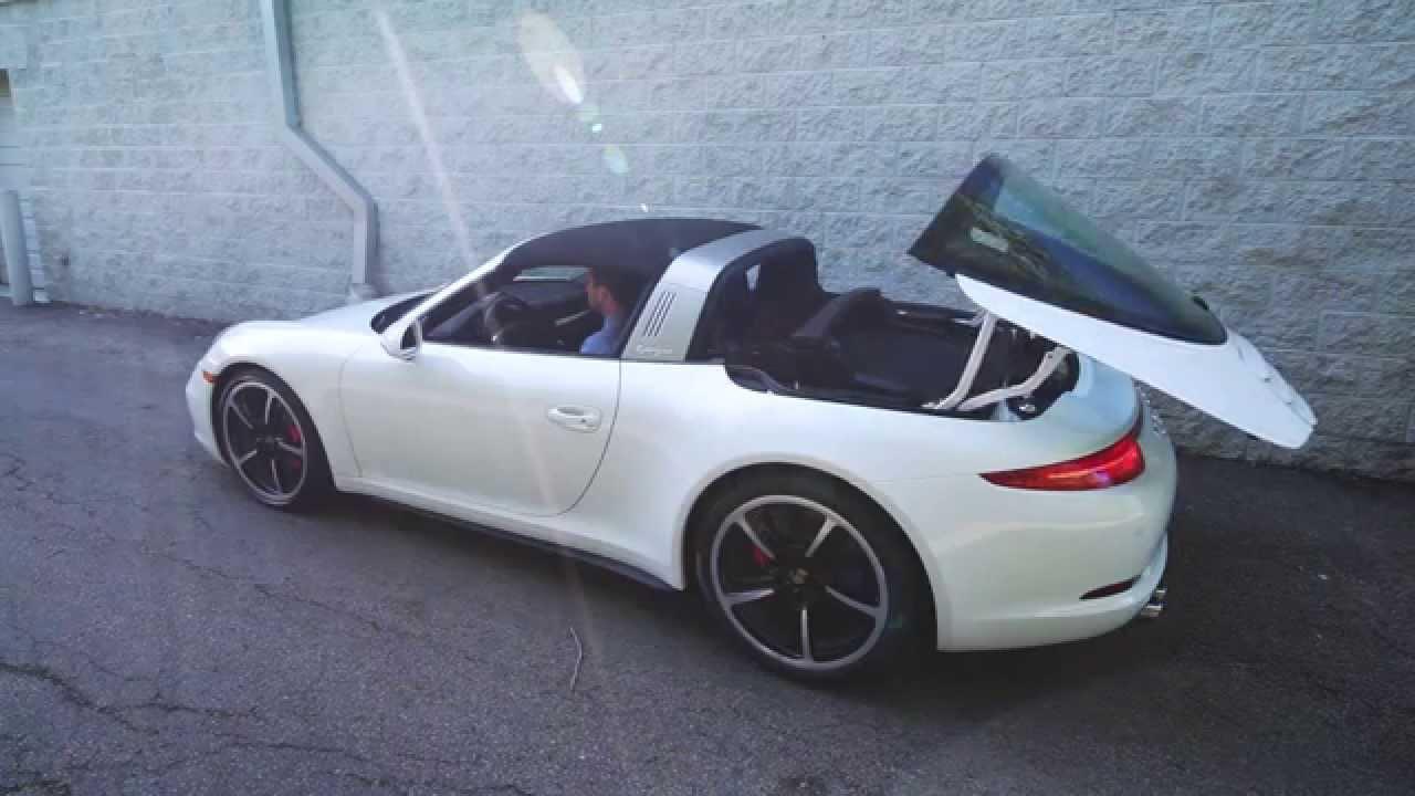2015 Porsche Targa 991 911 Roof Mechanism In Operation