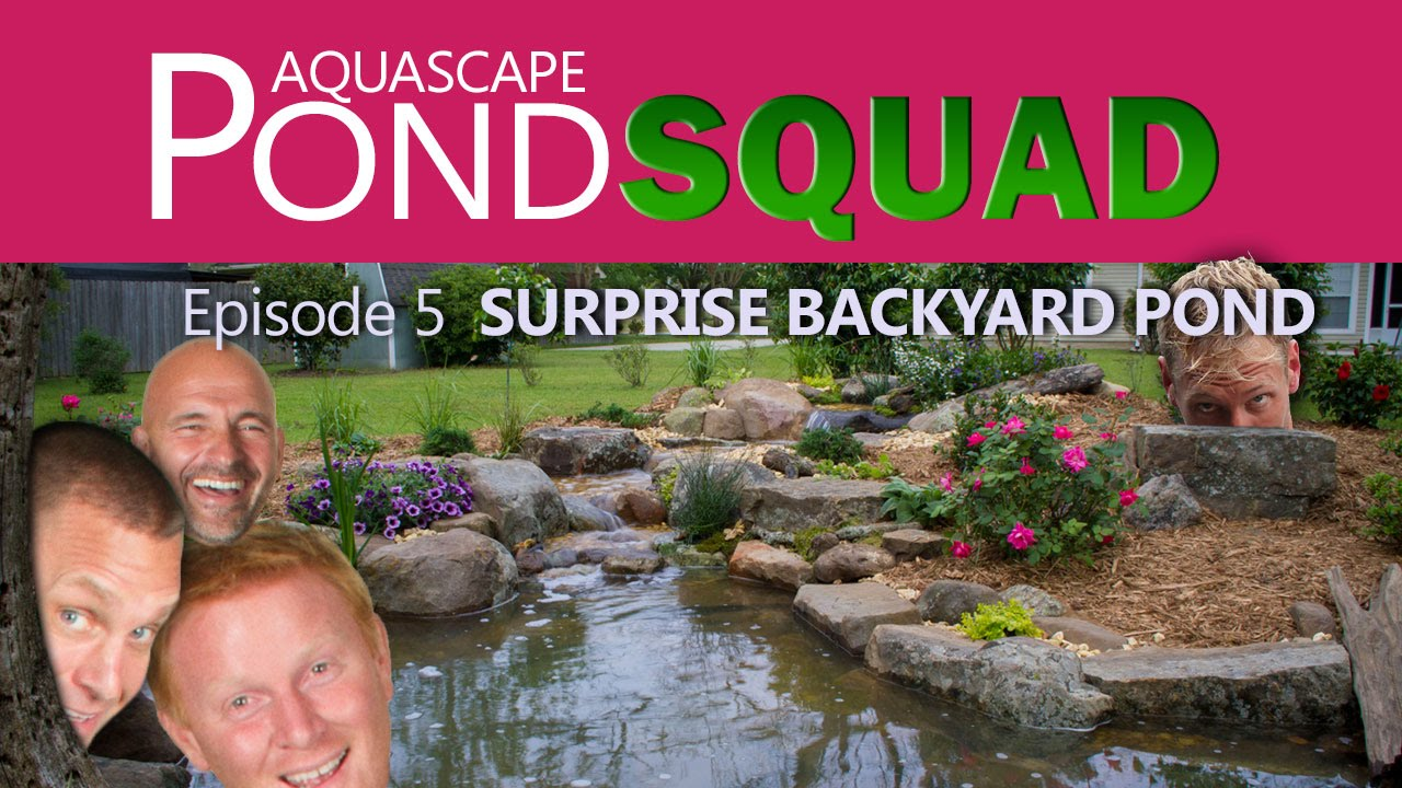 Aquascape Pond Squad - Surprise Backyard Pond - Episode 5