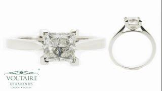Princess Cut Solitaire Engagement Ring - ER 1019