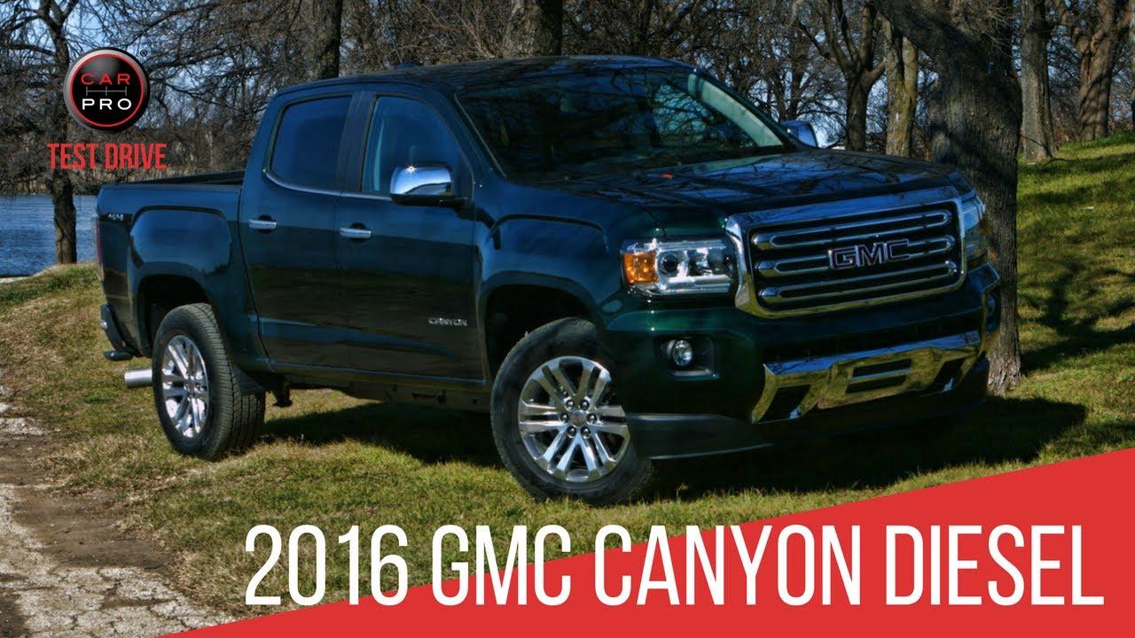 2016 gmc canyon diesel test drive
