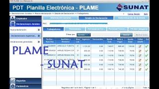 Como declarar el PDT PLAME 2018 - Sunat