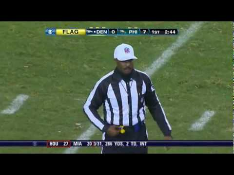 Brandon Stokley Ejected For slapping Ref    Broncos vs  Eagles