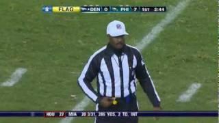 Brandon Stokley Ejected For slapping Ref    Broncos vs  Eagles