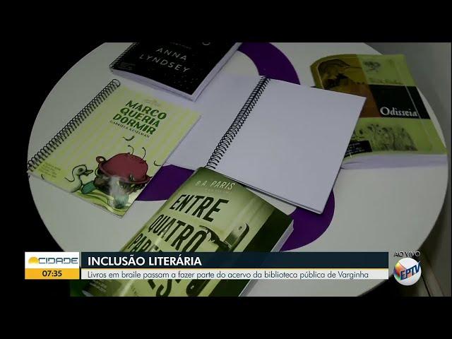 Livros em braile na Biblioteca Pública - EPTV Sul de Minas