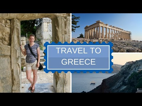 Travel to Greece (Athens + Santorini)   Travel Vlog/Travel Recap