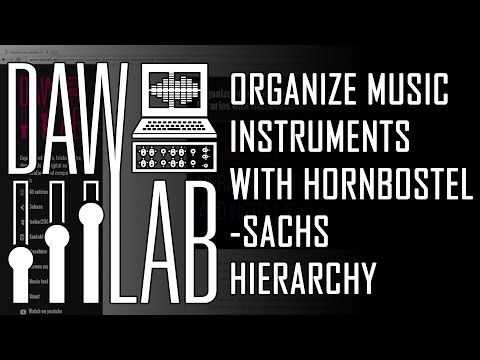Organize music instruments with Hornbostel Sachs hierarchy