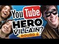 Drawing YOUTUBERS as HEROES & VILLAINS - ROUND 6!