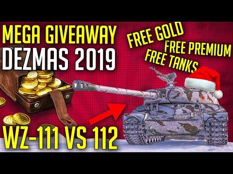 WZ-111 vs 112 • MEGA Giveaway DEZMAS 2019 | World of Tanks Free Tanks, Gold and More