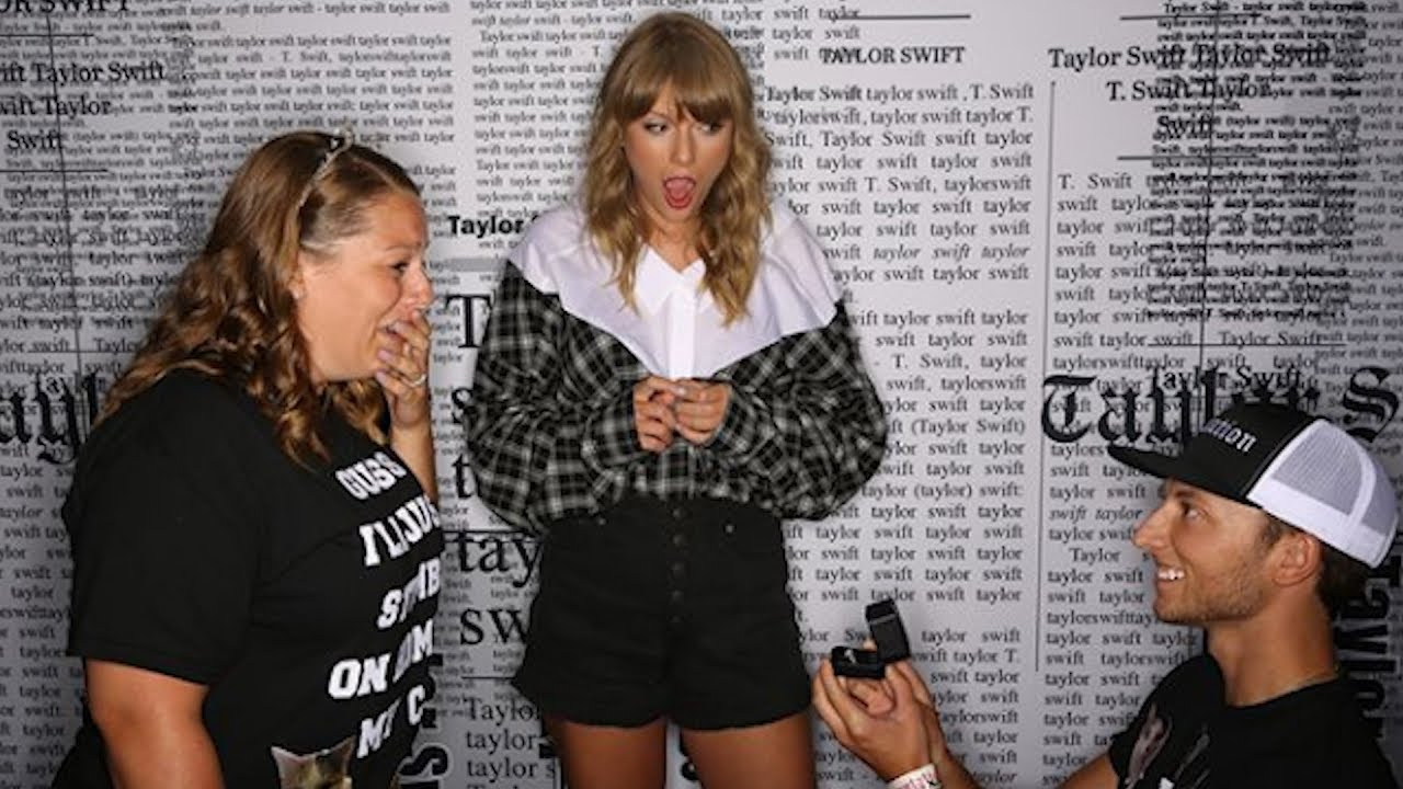 Boyfriend stuns taylor swift by proposing to girlfriend during meet boyfriend stuns taylor swift by proposing to girlfriend during meet and greet m4hsunfo
