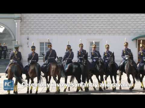 Russian presidential regiment holds this year's 1st Changing of the Guard ceremony
