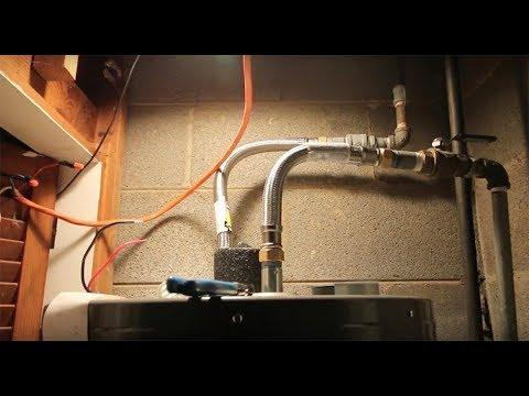 hot water element hook up