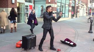 Downtown Spokane Street Musician Bryson Andres