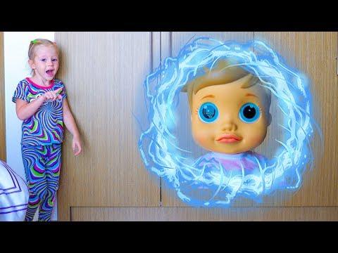 Nastya وطفلة دمية [تريبورتد] إلى الملعب فيديو مضحك للأطفال