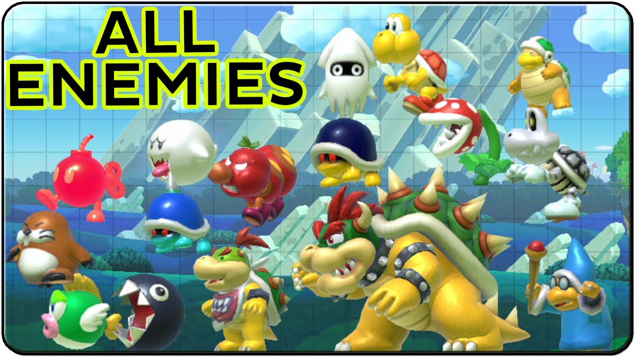 Super Mario Maker All Enemies Youtube