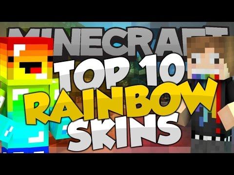 Top 10 Minecraft RAINBOW SKINS! - Best Minecraft Skins