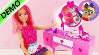 Barbie toaletní stolek se zrcadlem a stylingovými produktya make-upem