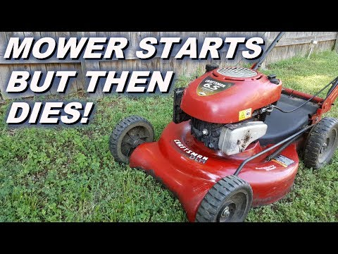 Lawn Mower starts and then dies, turned out to be an easy cheap fix -Loctite!