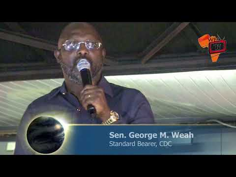 Senator George Weah Describes Critics As Troublemakers