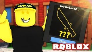 i got the new rarest knife in mm2 watch to learn how to get one