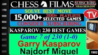 Kasparov: 230 Best Games (#7 of 230): Garry Kasparov vs. Najdorf Miguel