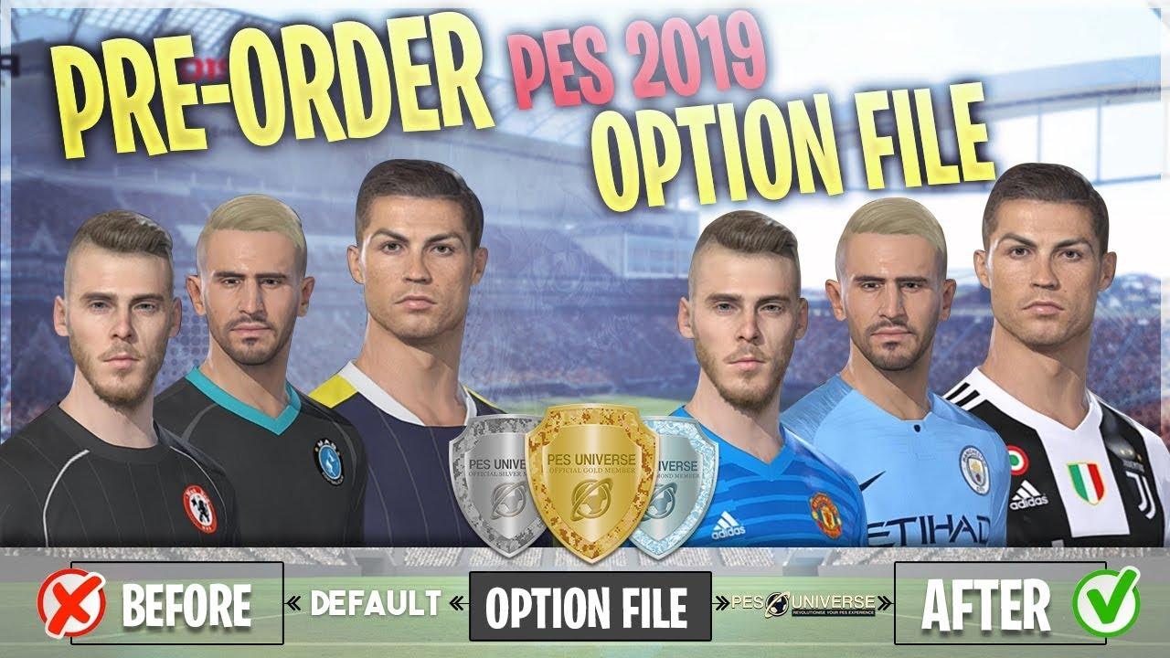 PES 2019 | Pre-Order Option File | Q&A & Details | PES Universe – #1