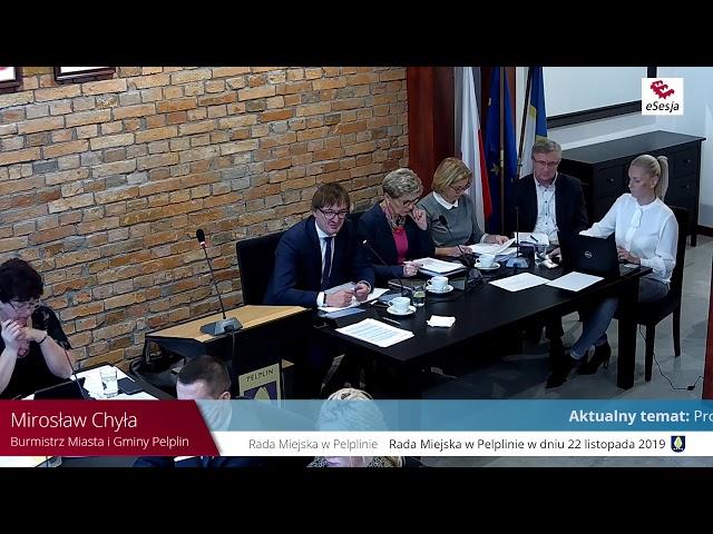 Skrót XIV Sesji Rady Miejskiej w Pelplinie - część 1
