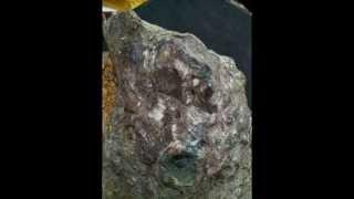 Kimberlite rock with precious stone and diamond natural 6