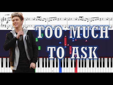 Niall Horan - Too Much to Ask (Instrumental) - Piano Tutorial w/ Sheets