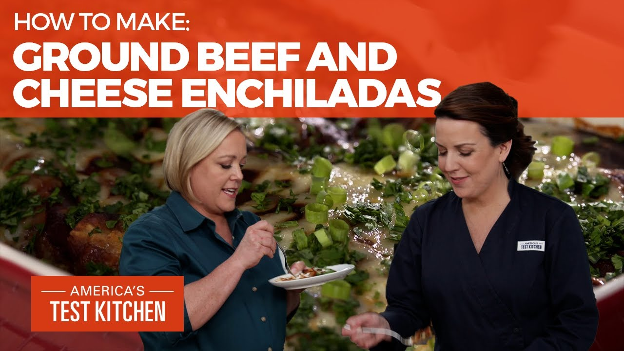 How to Make Ground Beef and Cheese Enchiladas