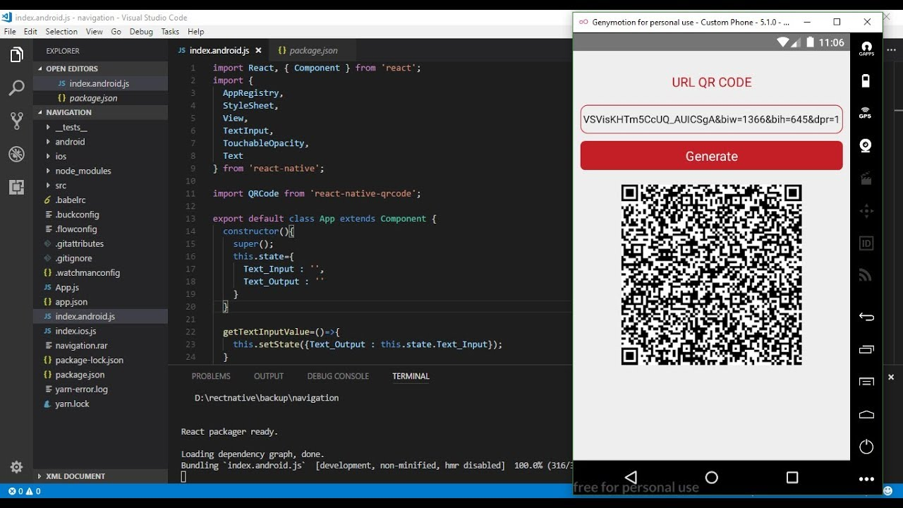 React Native - How to make Generate QR Code with easy