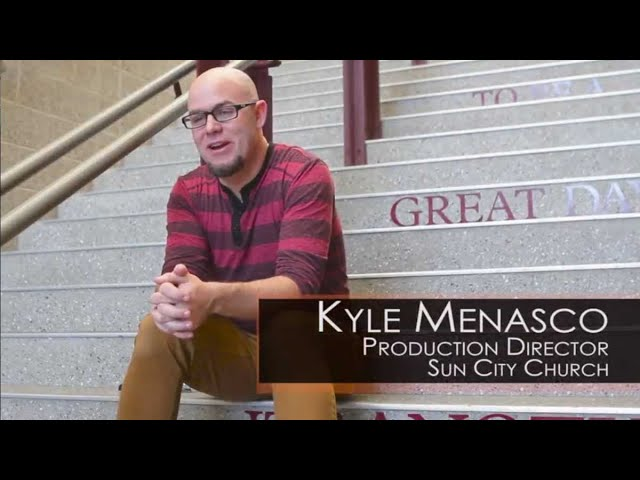 Elite Screens QuickStand 5-Second Series Testimonial Video from Sun City Church