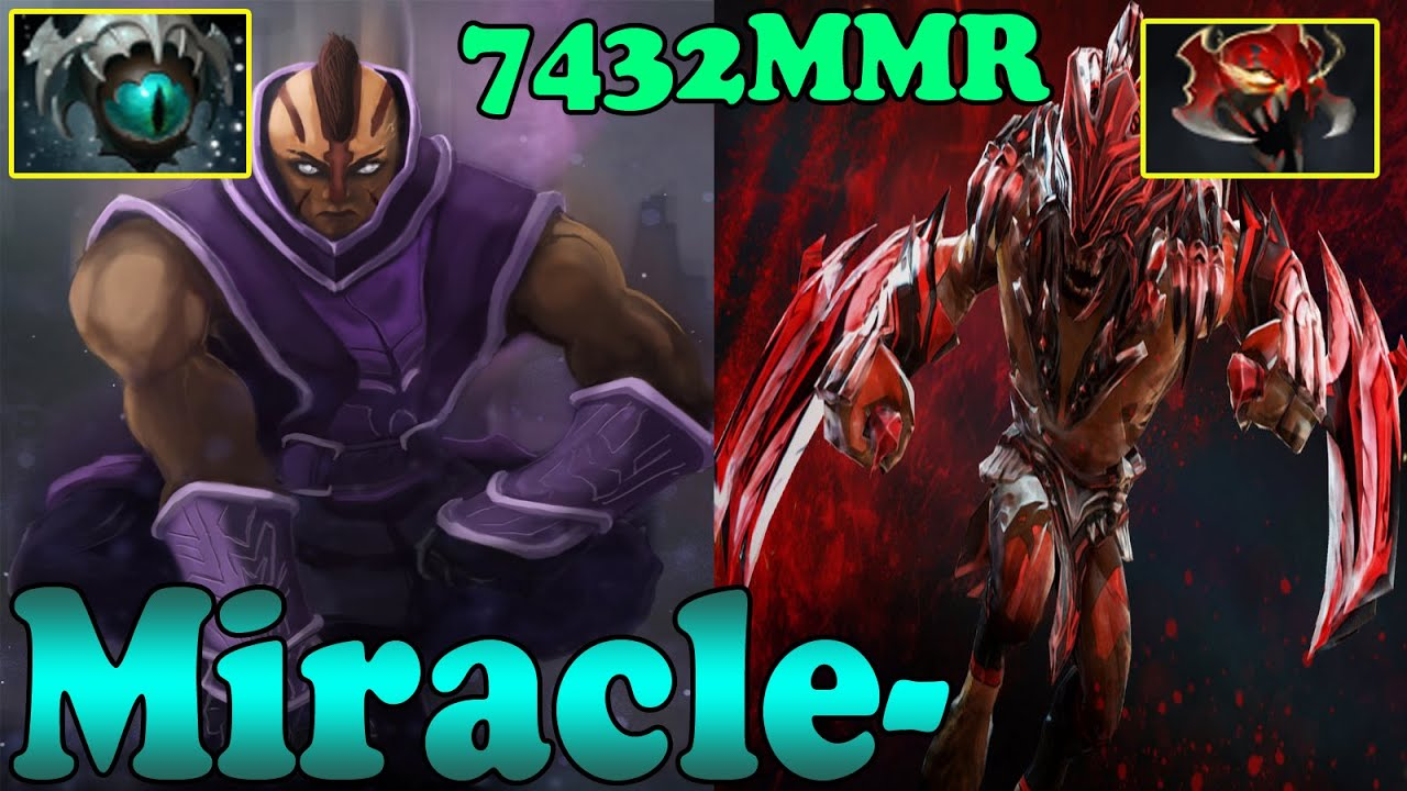 dota 2 miracle 7432 mmr plays anti mage and bloodseeker