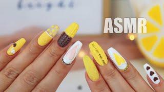 ASMR NAIL ART Tutorial Design Ideas Whisper Tapping АСМР Шепот МАНИКЮР Дизайн ногтей 2021