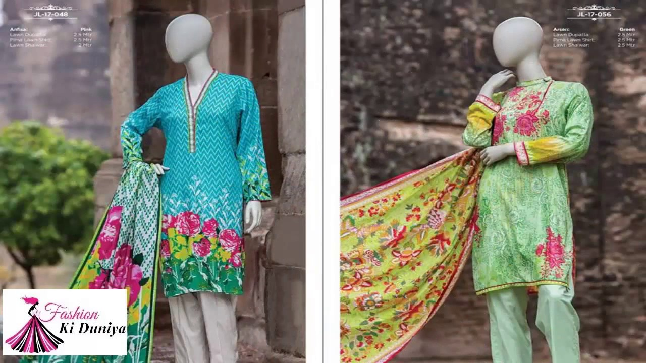 a940593a9a J. Junaid Jamshed Lawn 2017 Summer Collection Vol 2 With Price - YouTube