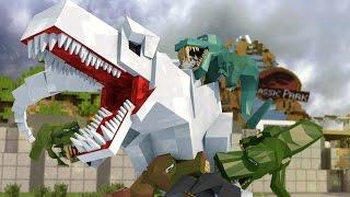 Minecraft | Good vs Evil - JURASSIC WORLD: Dinosaur Extinction! (Indominous Rex vs T-REx)