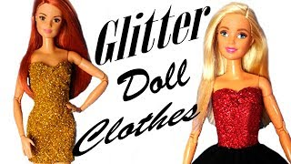 DIY Glitter Clothes / Roupas de Balada p/ Barbie / Doll Tutorial