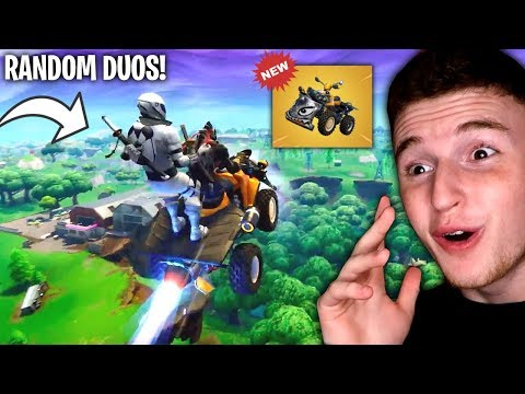 Random Duos With The *NEW* QuadCrasher In FORTNITE!