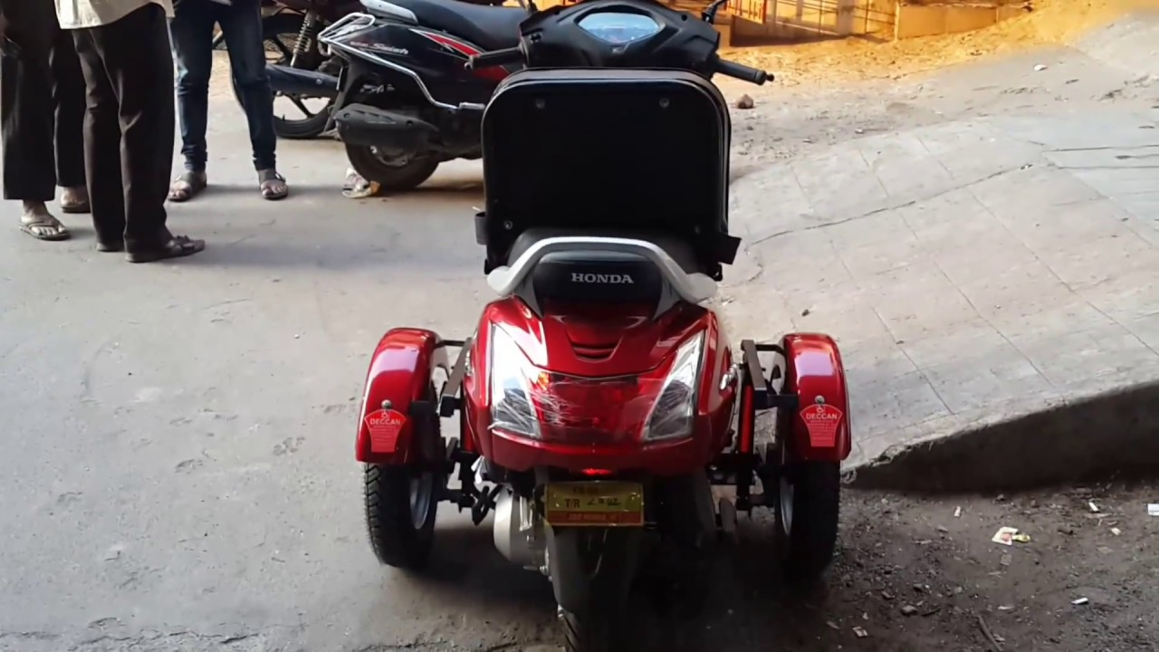 Honda Activa Handicapped Scooter with wheelchair seat 9849504054 - YouTube